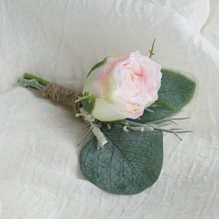 Light Pink Rose Bud 1 Buttonhole