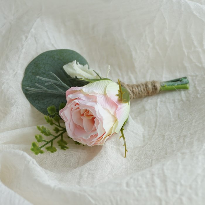Light Pink Rose Bud 2 Buttonhole